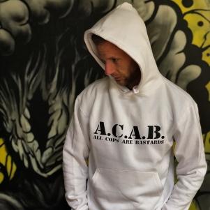 ACAB Hooded Sweater 'Basic White'