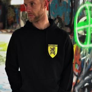Hardcore Vlaanderen Hooded Sweater 'Shield'