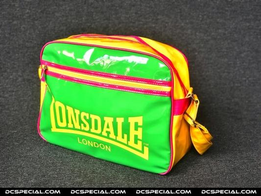 Lonsdale Schoudertas 'Geel / Groen / Roze'