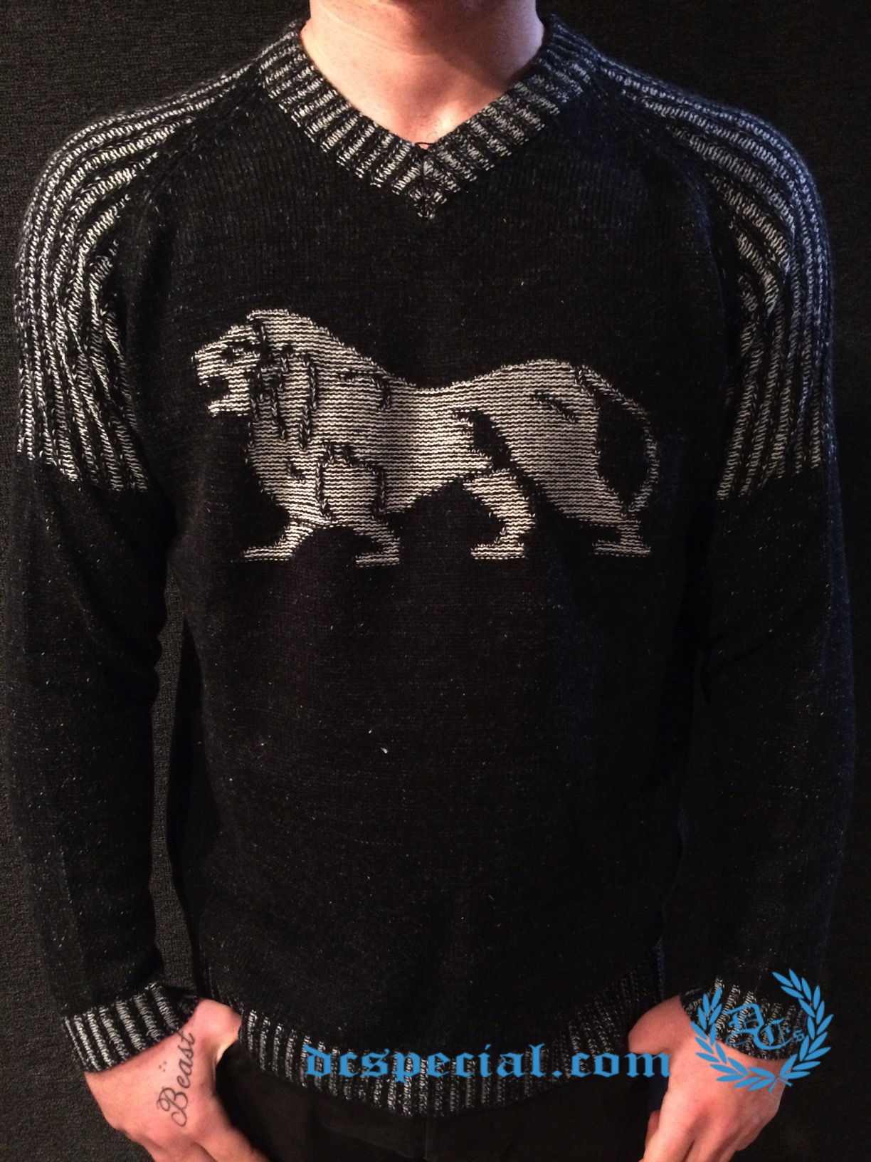 Lonsdale Sweater 'Big Grey Lion'
