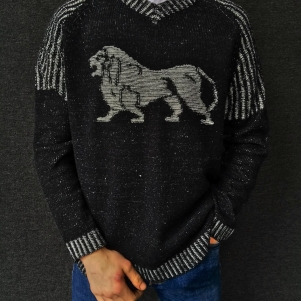 Lonsdale Sweater 'Big Grey Lion'