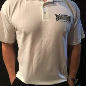 Aggressive Hardcore Clothing Polo 'Aggressive White'