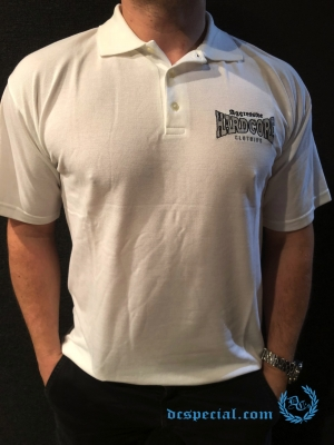 Aggressive Hardcore Clothing Polo 'Aggressive White'