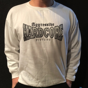 Aggressive Hardcore Sweater 'Aggressive Clothing White'