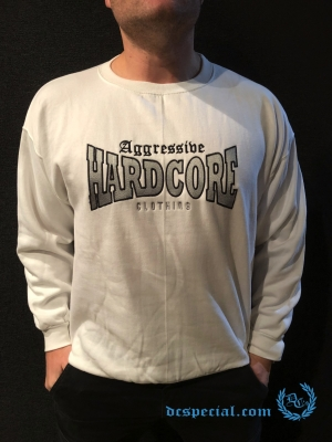 Aggressive Hardcore Clothing Sweater 'Aggressive White'