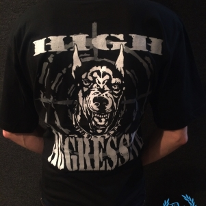 Doberman T-shirt 'High Aggressive'