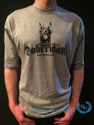 Doberman T-shirt 'Deutschland Grey'