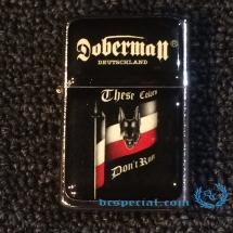 Doberman Lighter 'These Colours Don't Run'