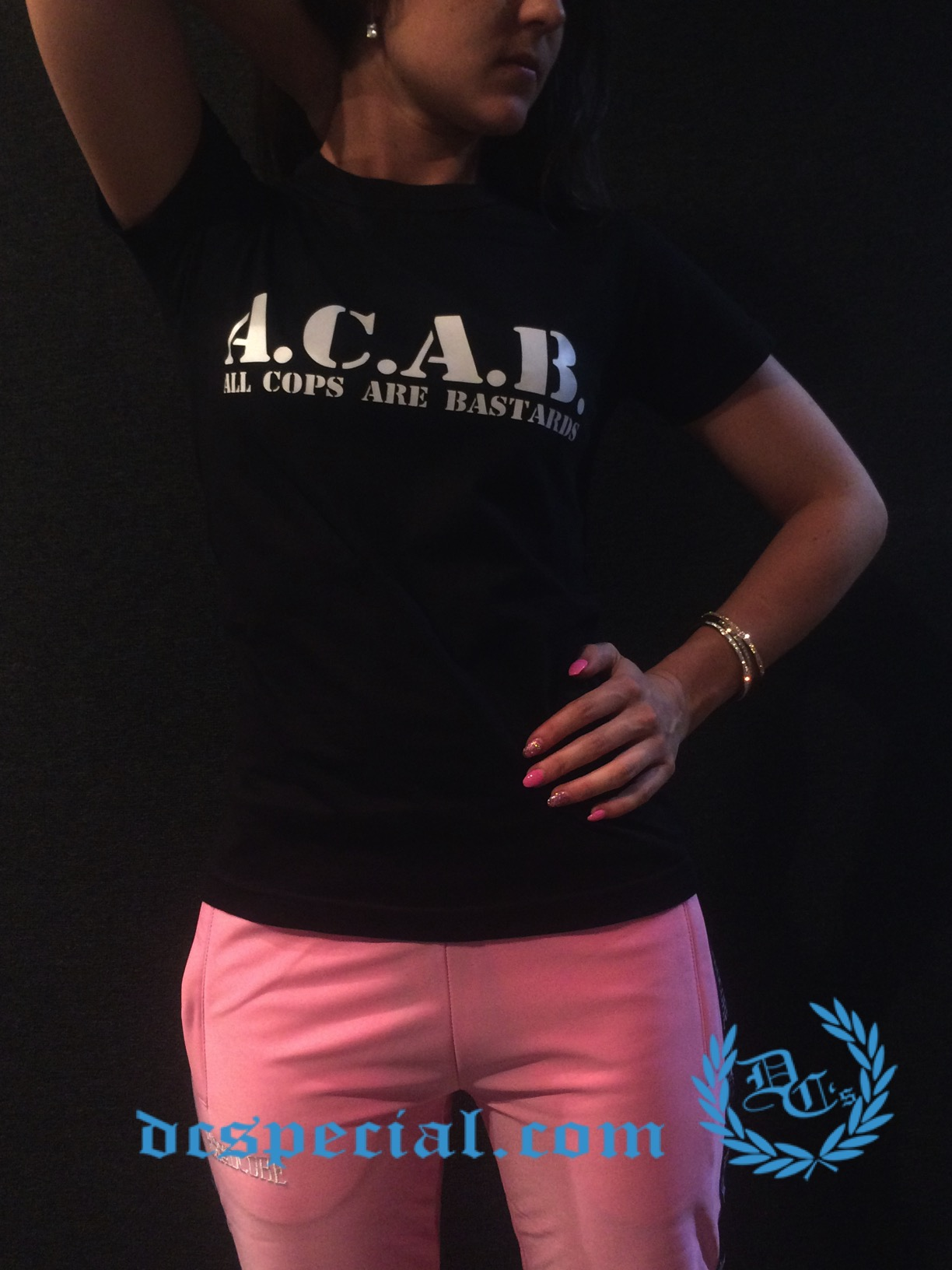 ACAB Women T-shirt 'All Cops Are Bastards'