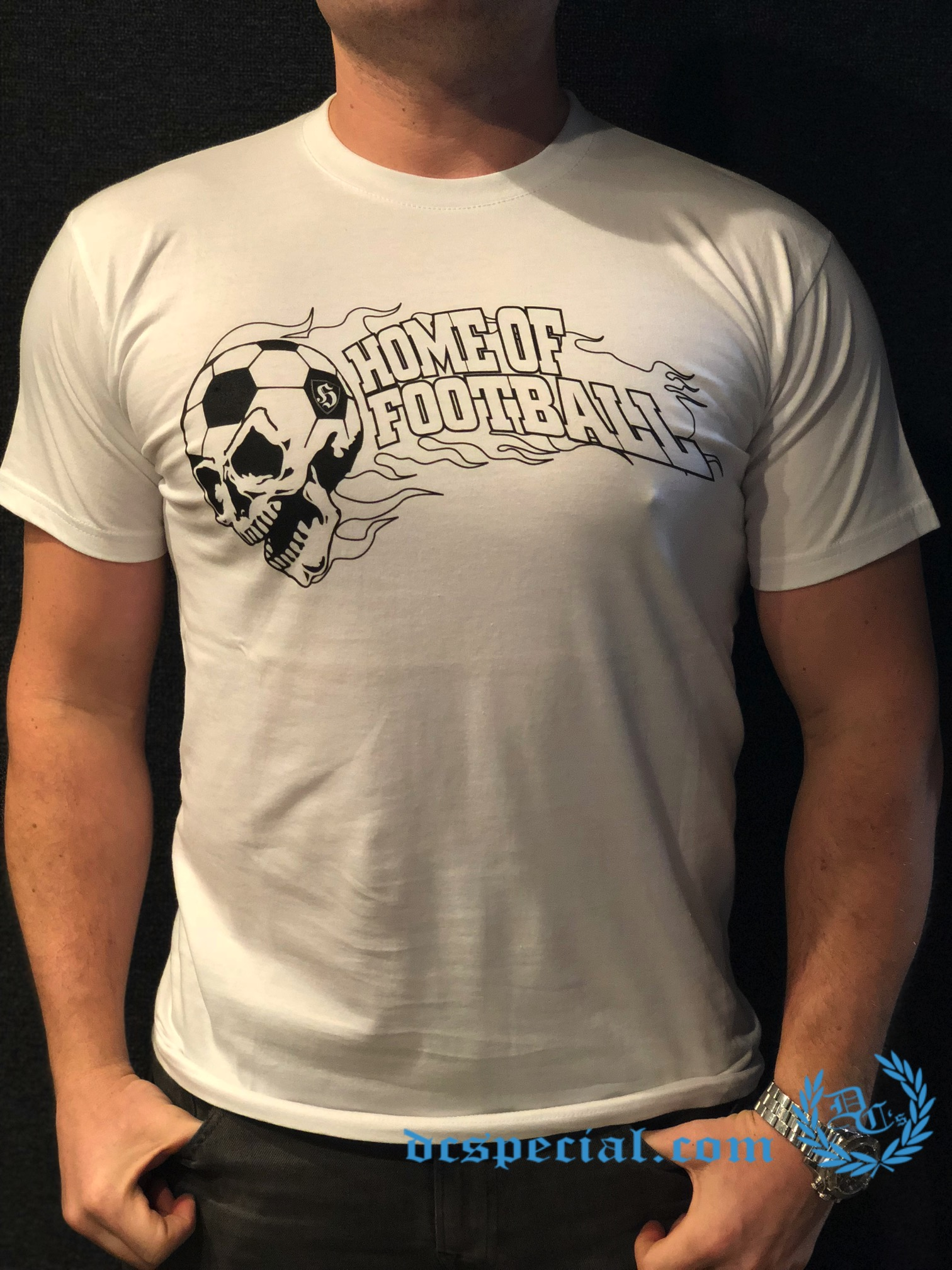 Hooligan T-shirt 'Home Of Football White'