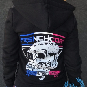 Frenchcore Dames Hooded Sweater 'E.F.L.'