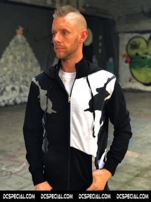 Cavello Hooded Sweater 'Black/White'