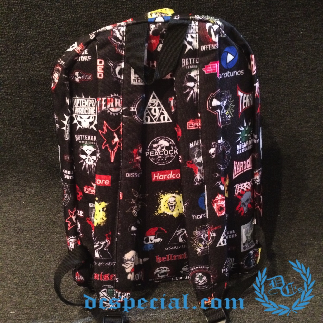 Hardcore Backpack 'Records Logos'