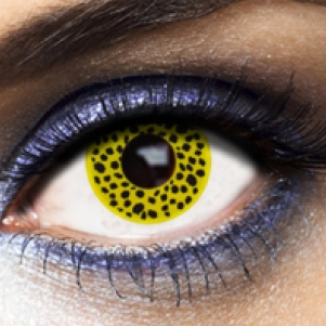 Eye Lenses 'Yellow Cheetah'