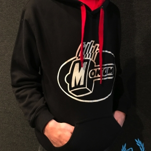 Mokum Records Hooded Sweater 'Mokum Black/Red'