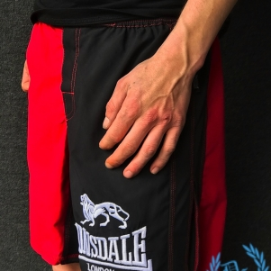 Lonsdale Boks Short 'Red/Black'