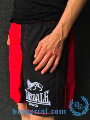 Lonsdale Boks Short 'Red/Black'