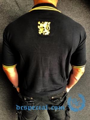 Casual Polo 'Black/Golden Lion'