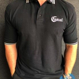 Casual Polo 'Black/Grey Lion'