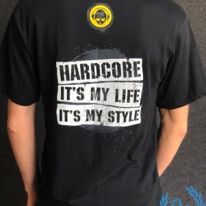 Shadowland Terrorists T-shirt 'Hardcore My Life, My Style'