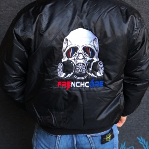 Hakken Bomber Jas 'Frenchcore Gasmask'