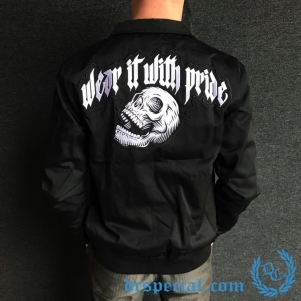 100% Hardcore Harrington Veste 'Screaming Skull'