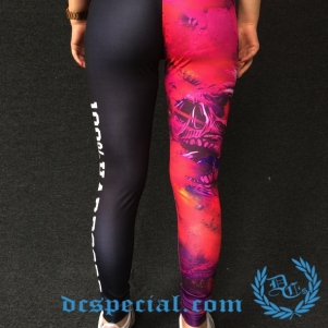 100% Hardcore Woman Legging 'Skulls Pink'