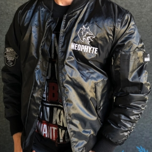 Neophyte Bomber Veste 'Hardcore Worldwide Anarchy'