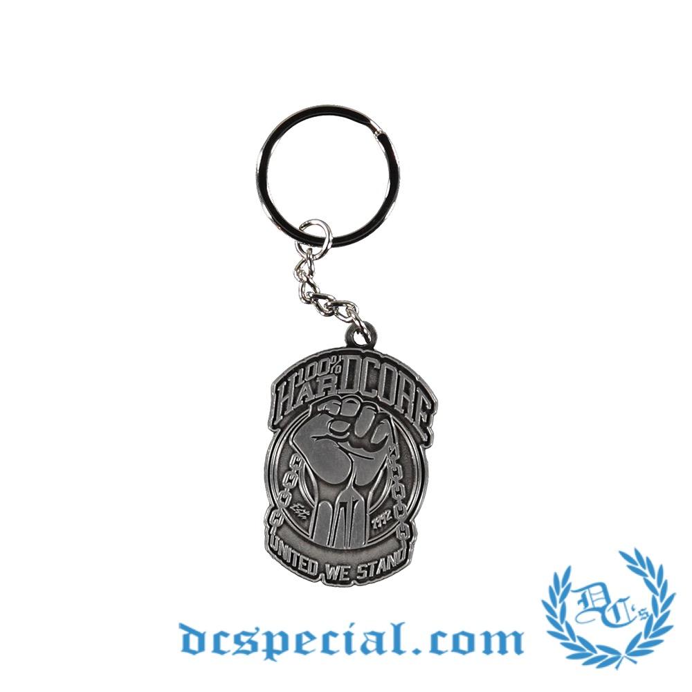 100% Hardcore Metal Keychain 'United'