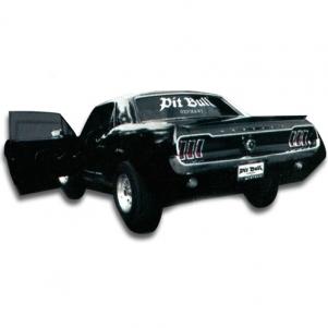 Pit Bull Car Windowsticker 'Pitbull Germany White'
