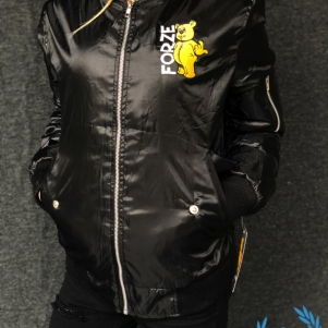 Paul Elstak Ladies Bomber Jacket 'Wanna Play?'