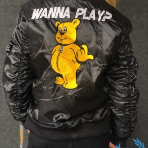 Paul Elstak Bomber Veste Pour Femmes 'Wanna Play?'