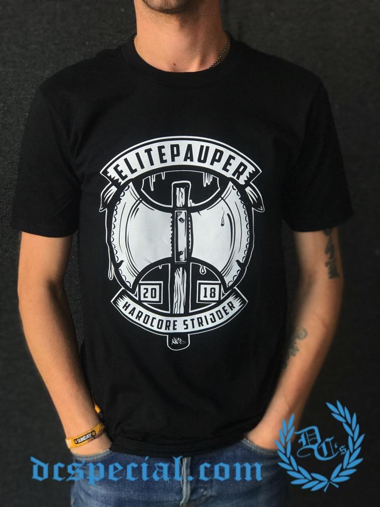 Elitepauper T-shirt 'Hardcore Strijder'