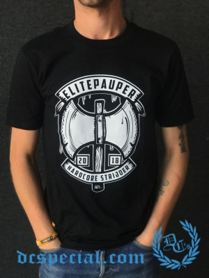 Elitepauper T-shirt 'Hardcore Strijder'