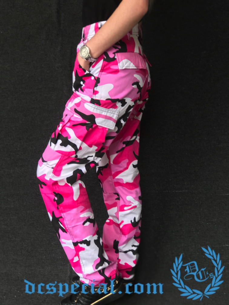 BDU Ladies Army Pants 'Camo Pink'