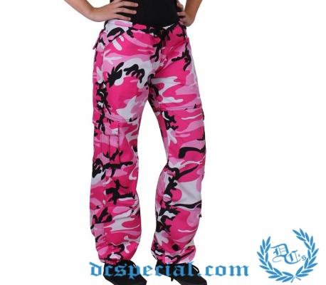 Legerbroek Voor Vrouwen 'BDU Camo Pink'