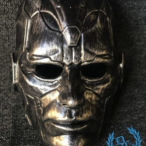 Mask Full Face 'Metal Man Silver'
