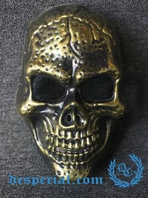 Masker Full Face 'Skull Gold'