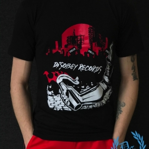 Disobey Records T-shirt 'Hardcore Nothing Else'