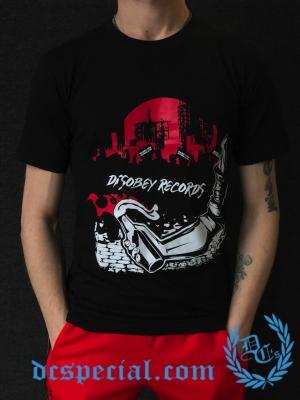 Disobey Records T-shirt 'Hardcore Nothing Else'