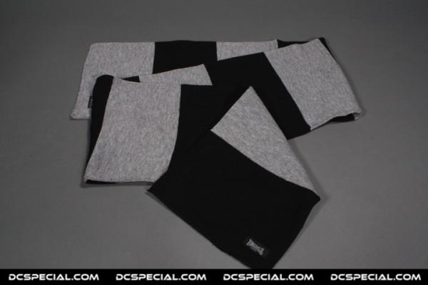 Lonsdale Sjaal 'Black/Grey'