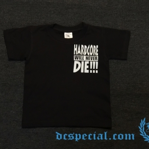 Hardcore T-shirt For Kids 'Hardcore Will Never Die'