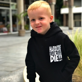 Hardcore Kids Hooded Sweater 'Hardcore Will Never Die !!!'