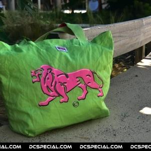 Lonsdale Zak 'Lion Roze / Groen'