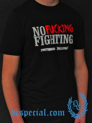 Partyraiser T-shirt 'No Fucking Fighting'