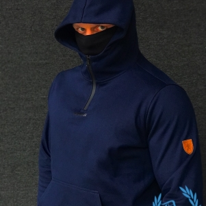 PGwear Half Face Hooded Sweater 'Rage'
