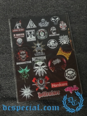 Hardcore Stickers 'Artists'