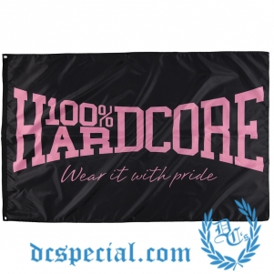 100% Hardcore Vlag 'Wear It With Pride Pink'