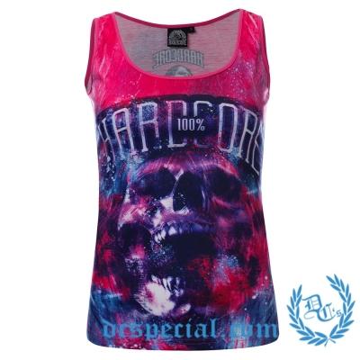100% Hardcore Dames Top 'Art Skull'
