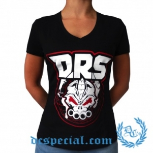 DRS V-neck T-schirt Pour Femmes 'Worldwide Warriors'